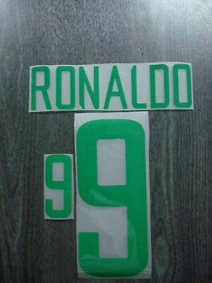 RONALDO #9 Brazil Home World Cup 2002 Name + Numbering