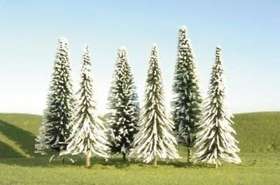 Bachmann Trains inches 4 inches  Pine Trees with Snow 9 Per Box