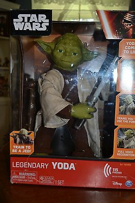 """~ Star Wars Legendary 16"""" Jedi Master Yoda Interactive Collectors Toy The Force"""