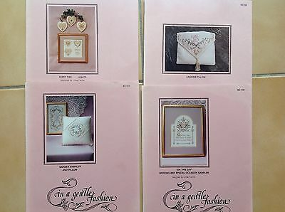 Embroidery Patterns  Cross Stitch X 4 Designs