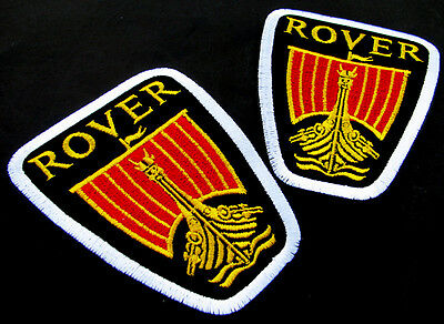 2 x ROVER Embroidered Iron on Patch British Car Land Rover Freelander Automobile