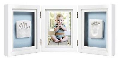Pearhead Babyprints Handprint and Footprint Deluxe Desk Frame, White