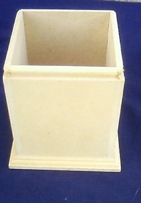 Craftwood open top box  8.5cm square x 11 cm tall MORE DETAILS IN DESCRIPTION