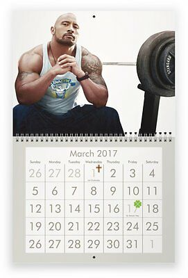 "DWAYNE ""The Rock"" JOHNSON 2017 Wall Calendar"
