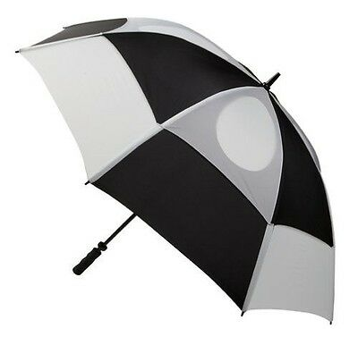 GustBuster Proseries Gold 62-Inch Style 5 Golf Umbrella (Black/White)