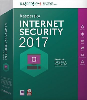 Kaspersky Internet Security 2017 1PC / User / 1Year / Download,NO CD ,ANTIVIRUS