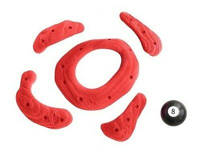 Atxarte Sandstone Screw-On Climbing Holds, Red