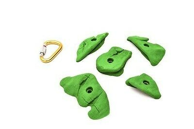 ETCH Slicks Set B Climbing Hold, Green