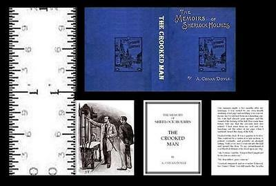 1:12 Scale Miniature Book Sherlock Holmes The Crooked Man Illustrated