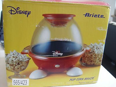 DISNEY Ariete POP CORN MAKER - POPCORN Maschine - SEHR RAR Im Design MICKY MAUS