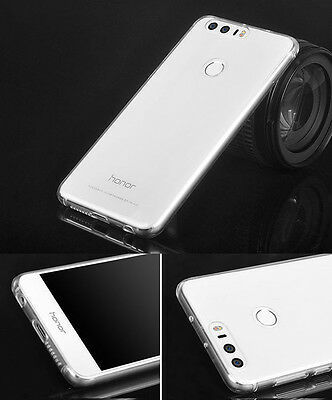 2x Ultra Thin Clear Gel skin case cover For Huawei Honor 8
