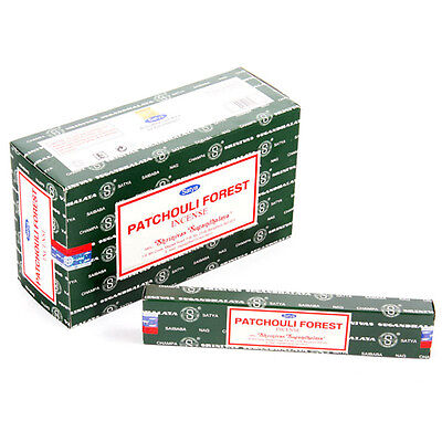 Satya Sai Baba Nag Champa Patchouli Forest Incense Sticks Box of 12 Wholesale