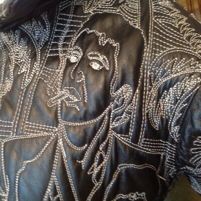 Vintage Scarface Coat Small Leather Vilanto Embroidered Al Pacino 20th Anniv