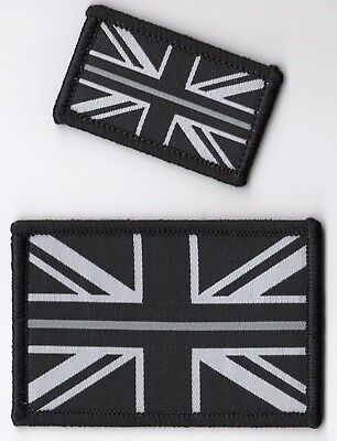The Thin Silver Line Prison Officer Woven Badge Patch Union Jack Flag 3 x 5cm