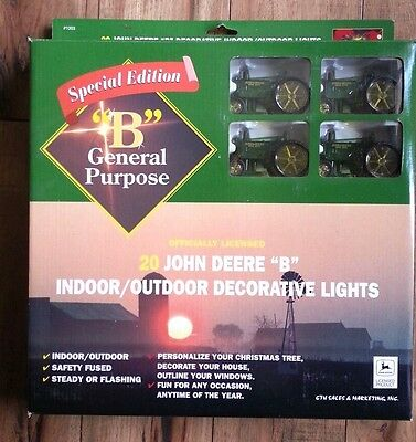 Special Edition 20 John Deere B Decorative Indoor Outdoor Holiday Light Tractor