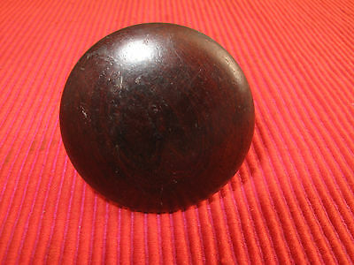 "Large Antique Victorian Mahogany Screw Peg Drawer Pull Handle Empire 2 1/16"" D K"