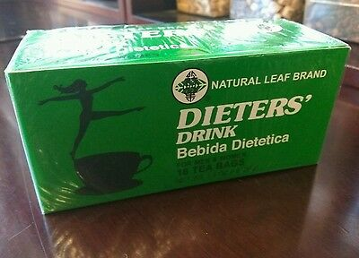 BUY 2 GET 1 FREE! Dieters' Drink Bebida Dietetica Natural Leaf Brand Dieters Tea