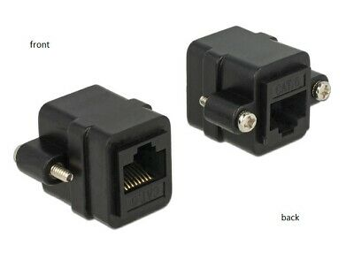Delock Adapter RJ45 female   RJ45 female panel-mount Cat.6 UTP #4-40 UNC