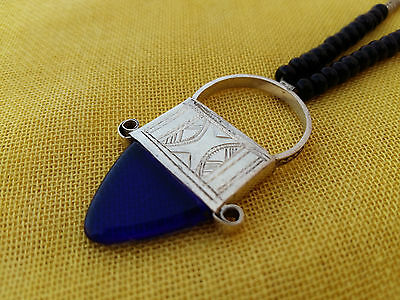 Handmade African Tuareg Ingall Necklace Ethnic Tribal Jewelry Silver Gypsy Hippy