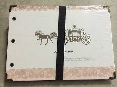 DIY 30Pages 26.5cm x 18.5cm Carriage Photo Album Wedding Book Scrapbook