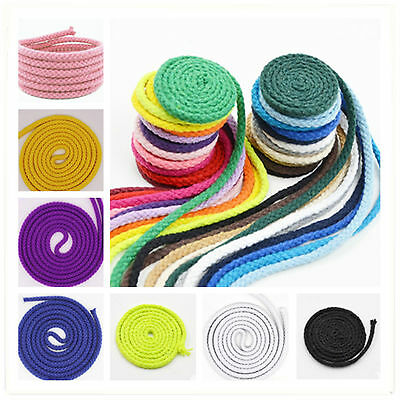 100% Natural Cotton Rope 8 Strand Braided Twisted Cord Garden Sash Decking