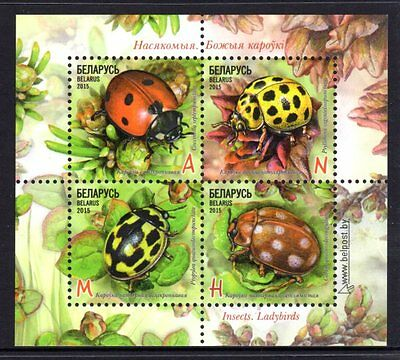 Belarus  2015 Insects Ladybirds Sheetlet 4 MNH