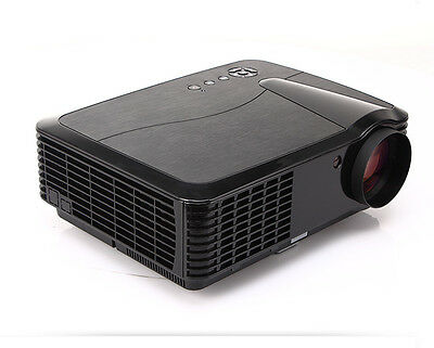 UK Stock 4500 Lumens 1080P Home Theater Movie Video HD TV PC LCD LED Projector