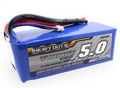 RC Turnigy Heavy Duty Series 5000mAh 6S 60C Lipo Pack
