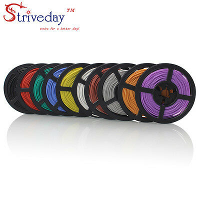 Silicone Wire 16AWG~28AWG Flexible Stranded of Multi Color Electronic RC Cable