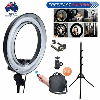 400W 34cm Undimmable Fluorescent Ring Light + Camera Phone Holder + 185cm Stand