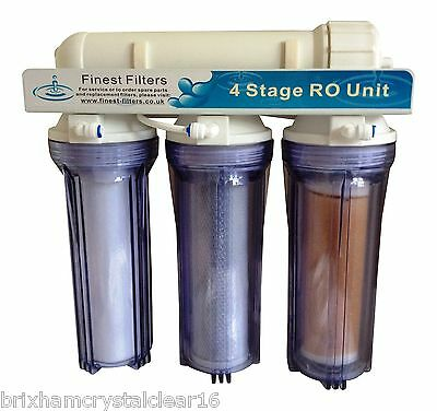 50gpd 4 STAGE REVERSE OSMOSIS RO UNIT WITH DI CHAMBER