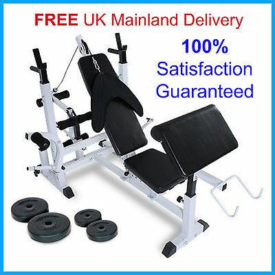 Home MultiGym Bench Weights Workout Sturdy Machine Fitness Professional Training