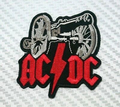ACDC BAND MUSIC METAL Embroidered Patch Iron Sew Logo Hardcore Emblem Custom