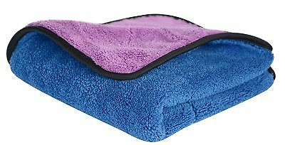 720gsm Ultra Thick Plush Microfiber Car Cleaning Towels Buffing Cloths Super ...