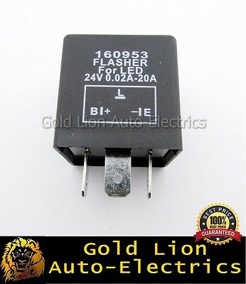 160953 New Led Flasher Unit Relay Indicators 24V For Led Light Turn Signal 3 Pin