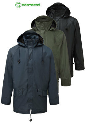 Mens Waterproof Breathable Windproof Jacket in Soft Fortex Rip Stop Fabric S-3XL