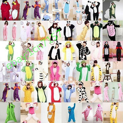 Hot! Unisex Adult Pajamas Kigurumi Cosplay Costume Animal Onesie Sleepwear Suit~