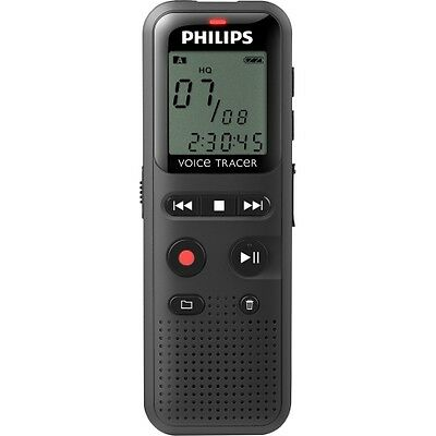 NEW Philips DVT1150 Voice Tracer Audio Recorder Notes Recording 1.3-in 4GB