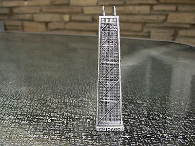 Metal John Hancock Chicago souvenir building paperwieght 4 1/4""