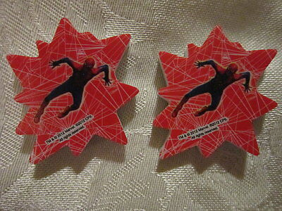 lot of 2 SPIDER-MAN red ERASERS by Marvel Comics *NEW*