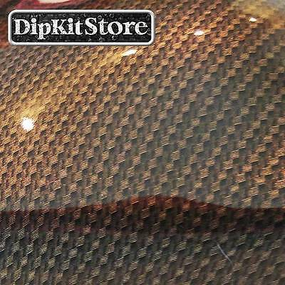 Hydrographic Film Water Transfer Hydrodipping Hydro Dip Gold Carbon Fiber Cf1172