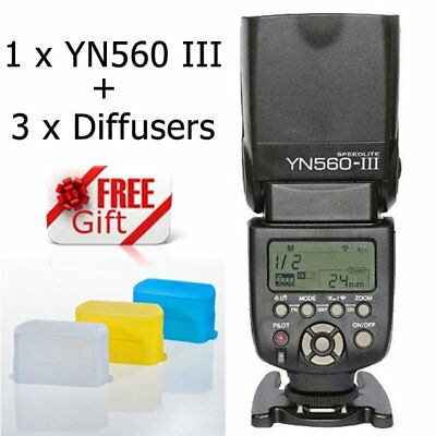 YONGNUO YN-560 III Wrieless Speedlite Trigger Flash for Canon Nikon Camera UK