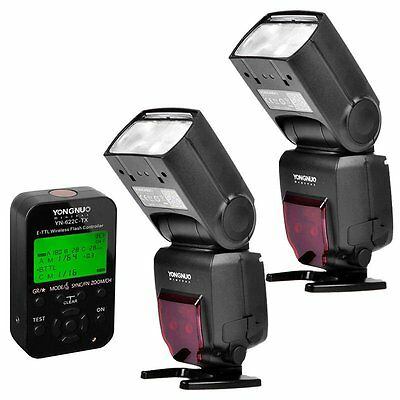 2 x Yongnuo YN-685 Wireless Speedlite Flash + YN622C-TX Transceiver for Canon UK