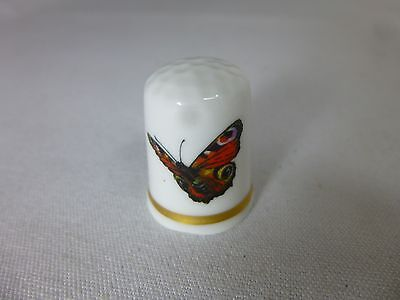 Vintage Thimble Theodore Paul Butterfly Fine English Bone China