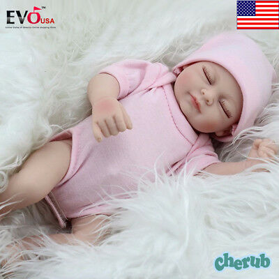 Handmade Real Looking Newborn Baby Vinyl Silicone Realistic Reborn Dolls Girl US