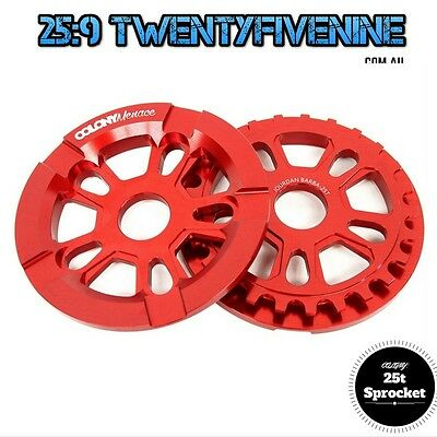 Colony Menace 25 Tooth BMX Sprocket With Built in Bash Guard - RED