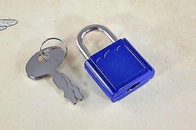 Mini  Padlock Tiny Box Locks With keys- (Lot of 7) - Blue Color-New
