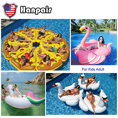 Inflatable Leisure Giant Swan Float Toy Rideable Raft Swimming Pool Multi Shape
