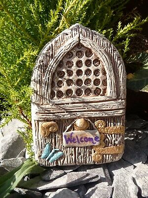 Lovely Butterfly Welcome Fairy Door Home Or Garden Ornament Wall Hanging Gift