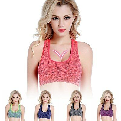 Womens Running Tops Tank Des sports Soutien-gorge Yoga Fitness Workout Racerback